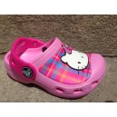 Cc Hello-Kitty Plaid Clog Carnation-Neon Magenta