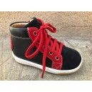 DUDE FORCE KESACO VELOURS Navy-Red
